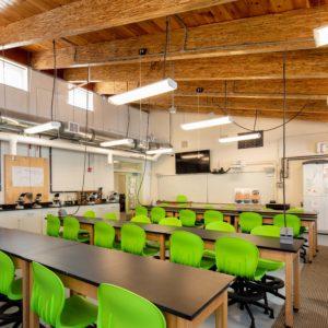 interior photo of downeast institute building classroom lab