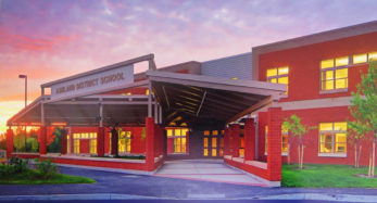 exterior photo of ashland district school entrance