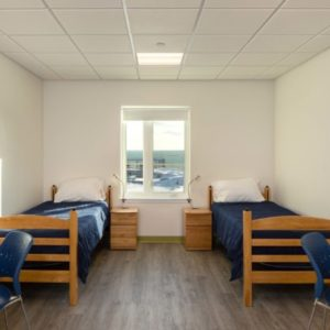 interior photo of a dorm room