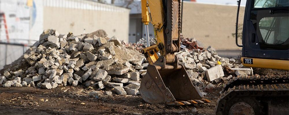 photo of construction equipment at a site