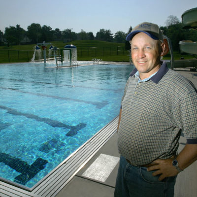 exterior photo of beth pancoe municipal aquatic center pool with brian