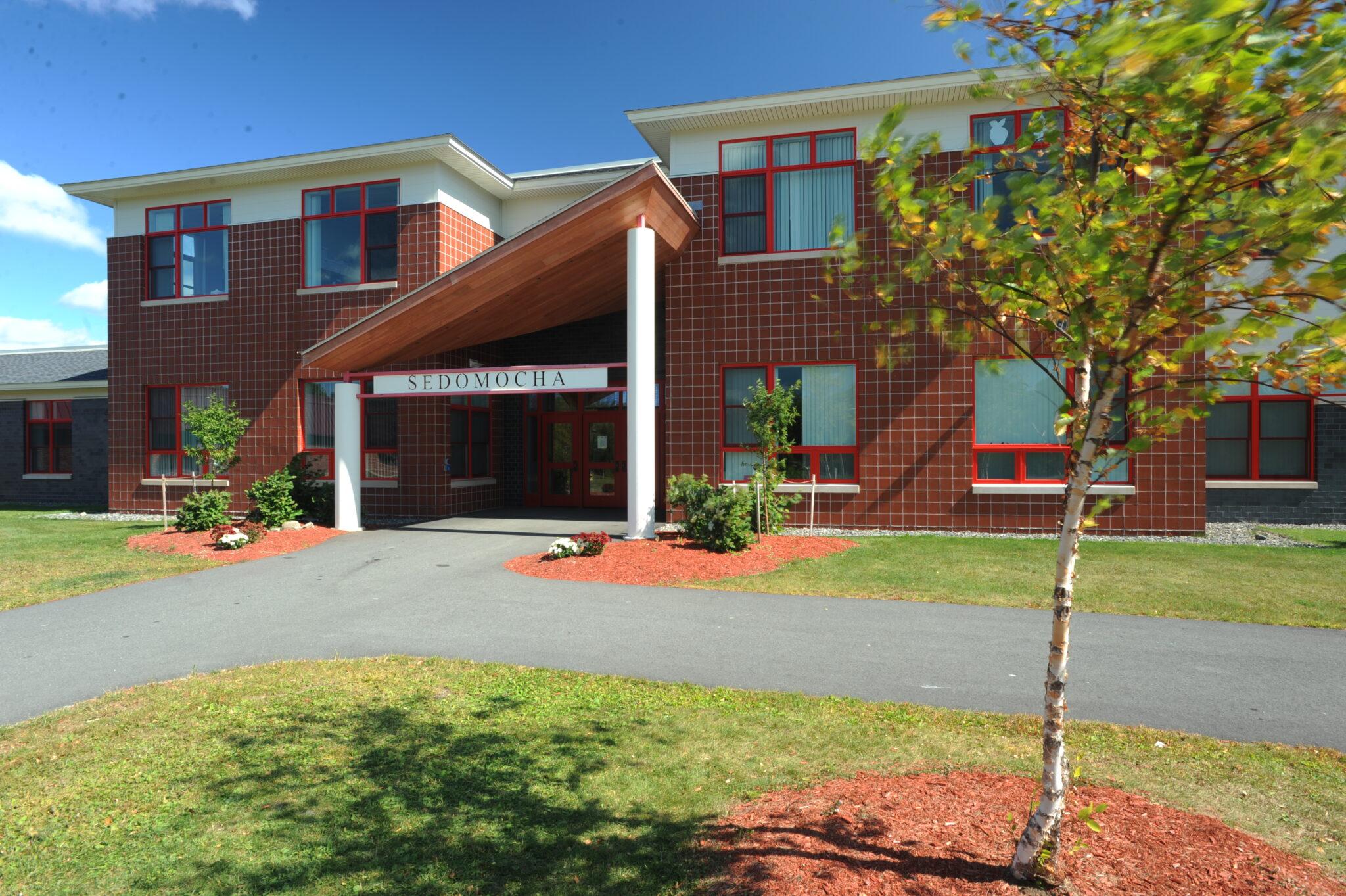 exterior photo of sedomocha elementary school entrance