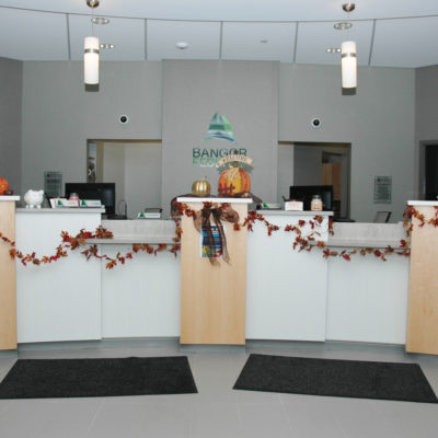 interior photo of bangor federal credit union building