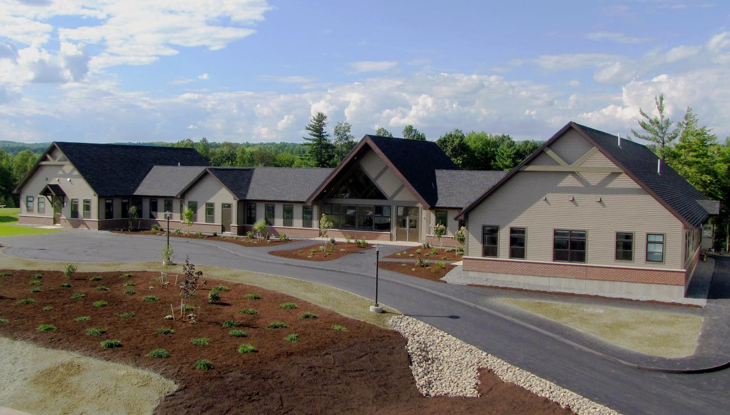 exterior photo of foxcroft academy on-campus residence hall