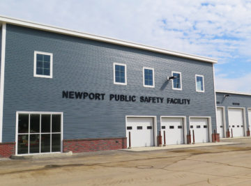 exterior photo of newport public safety building