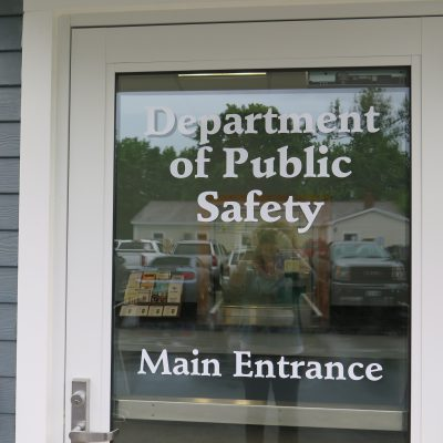 external photo of department of public safety main entrance at newport public safety building