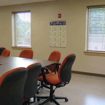 internal photo of newport public safety building