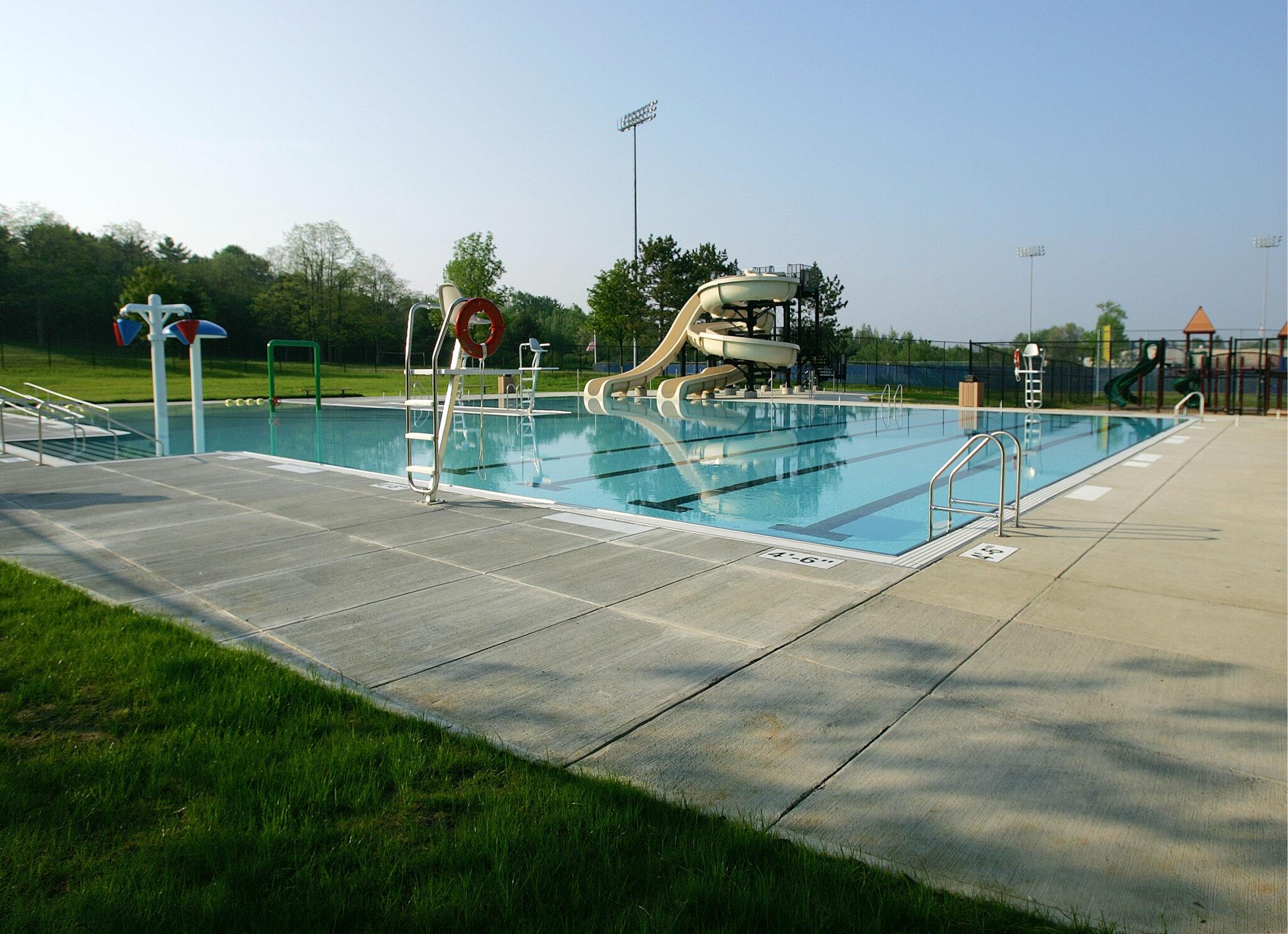 exterior photo of beth pancoe municipal aquatic center pool