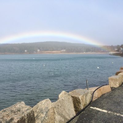photo of rainbow at the ocean view walkway