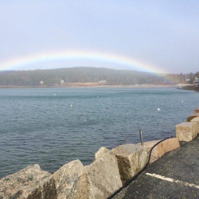 photo of rainbow at the ocean view walkway