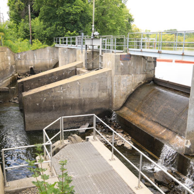 photo of sebasticook lake dam replacement