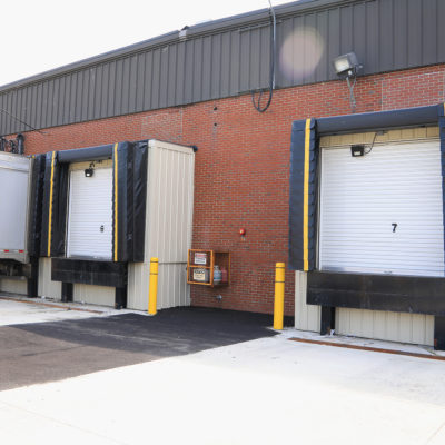 exterior photo of ups building loading docks
