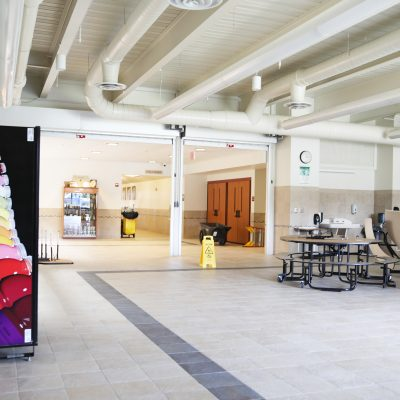internal photo of cafeteria at ashland school building