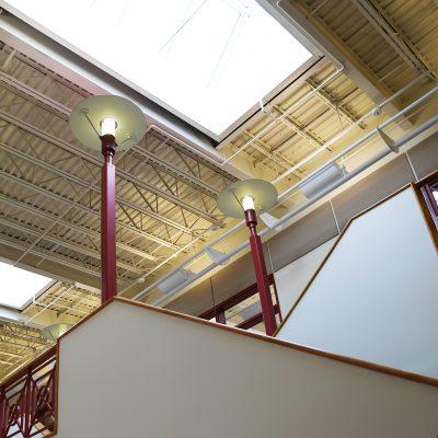 internal photo of ceiling at ashland school building