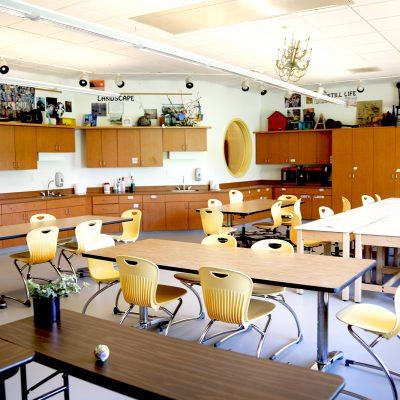 internal photo of classroom at ashland school building