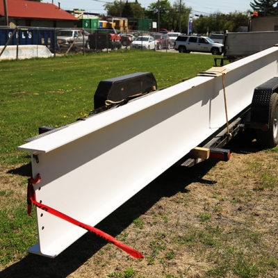 photo of beam to be signed at caribou community school beam signing ceremony