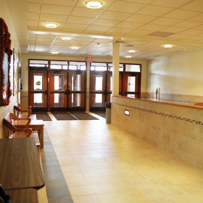 internal photo of entrance hall at ashland school building