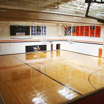 internal photo of gym at ashland school building