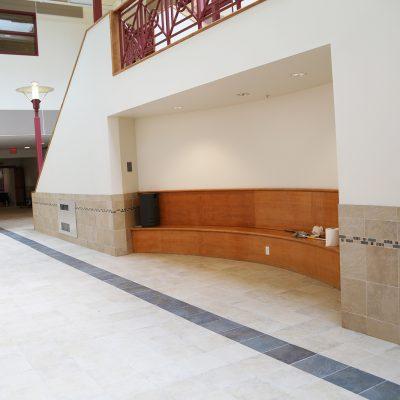 internal photo of hallway at ashland school building