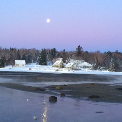 photo from searsport pier mid winter