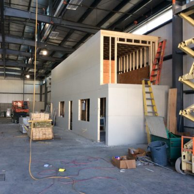 internal photo of southwest harbor boat house building