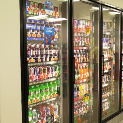 internal photo of ae robinson store coolers