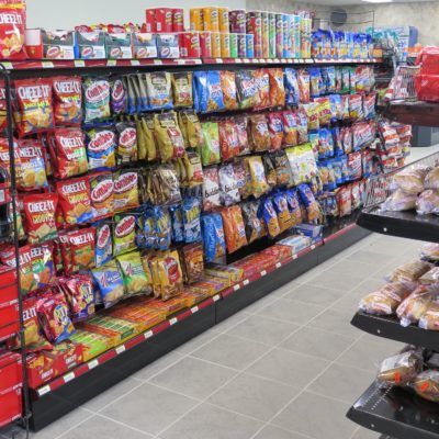 internal photo of ae robinson store snacks