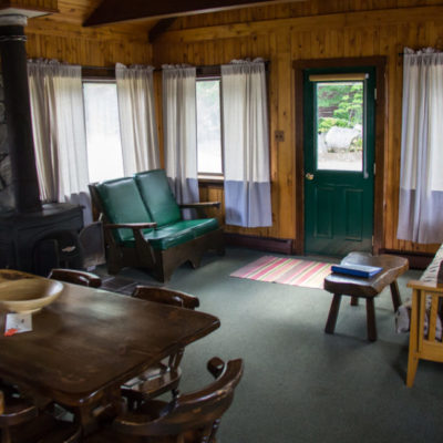 internal photo of twin pines cabins building