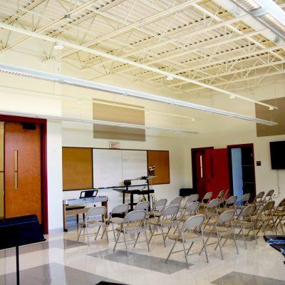 internal photo of music room at ashland school building