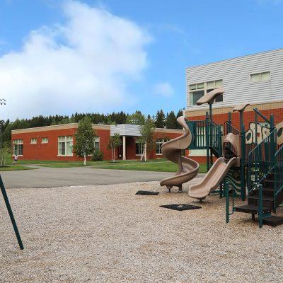 external photo of playground at ashland school building