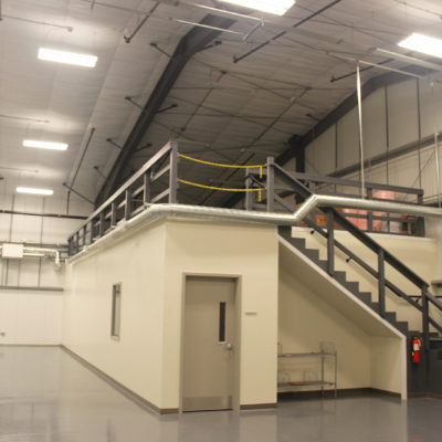 interior photo of porvair filtration group building