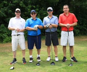 photo of bowman constructors workers at sebasticook valley fcu golf tournament