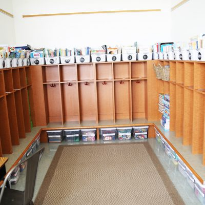 internal photo of storage at ashland school building