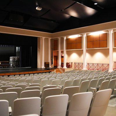 internal photo of auditorium at ashland school building