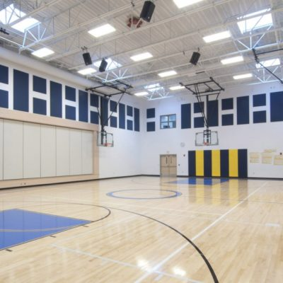internal photo of gym at jefferson village school building