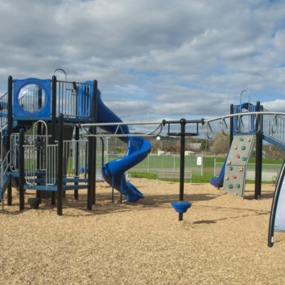 external photo of playground at jefferson village school building