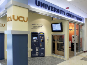 internal photo of umo memorial union university credit union