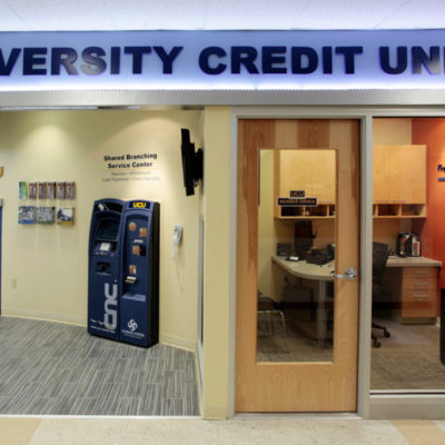 internal photo of umo memorial union university credit union