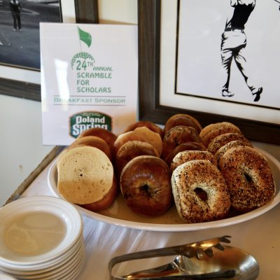 photo of bagels on breakfast table