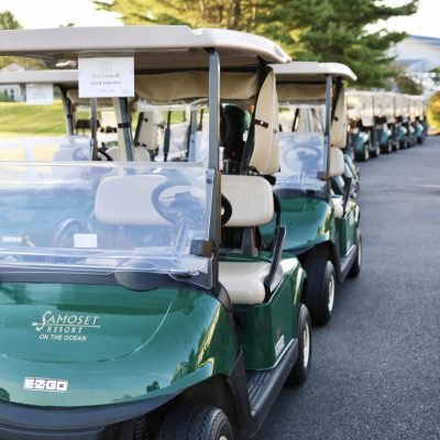 photo of samoset resort on the ocean golf carts