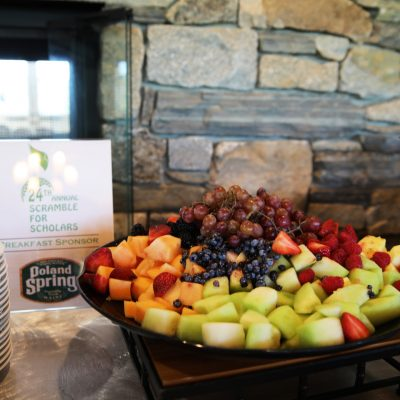 fruit tray at 24th annual scramble for scholars breakfast
