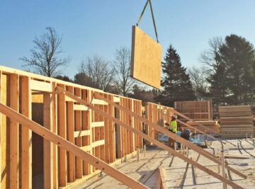 An image showing a housing unit being built